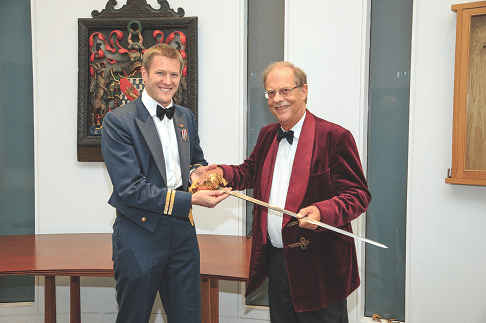 Michael Jeans, with 47 Sqn Sword Winner