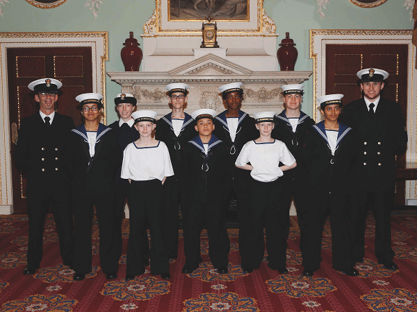 Sea Cadets at Mansion House